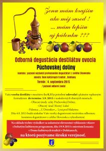 Odborná degustácia destilátov ovocia Púchovskej doliny 4.9.2015